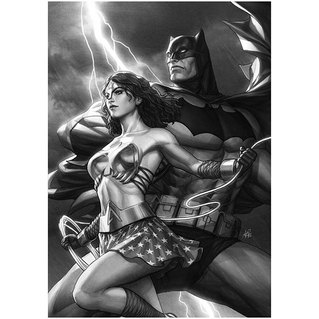 Legacy Edition official b&w sketch cover variant for #DKIII #1 Master Race by #artgerm & #dccomics Preorder your copy at legacycomics.com