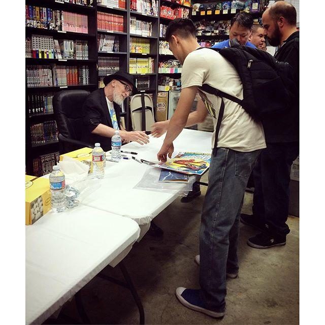#frankmiller signing. #dccomics #legacycomicsandcards