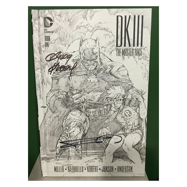 Another amazing giveaway!  Like our Facebook page https://m.facebook.com/legacycomicsandcards/ and share this post to win a signed #dkiii master race collectors edition HC Vol 1 signed by #frankmiller and #andykubert one winner will be picked at random on April 6!  Make sure you comment on the post that you liked our page and shared it!