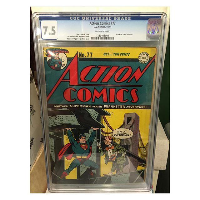 #goldenagecomics back from #cgc #actioncomics #77 #superman