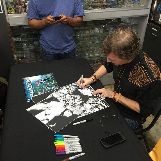 "Matt ""Batt"" Banning is signing copies of the new #batman #1 right now to 3pm!"