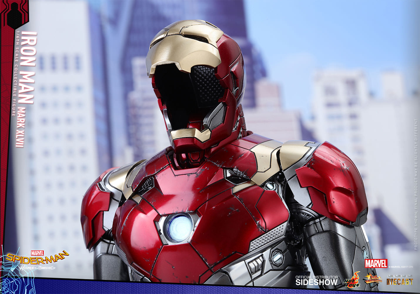 Marvel Spider Man Homecoming Iron Man Mark Xlvii Sixth Scale Hot