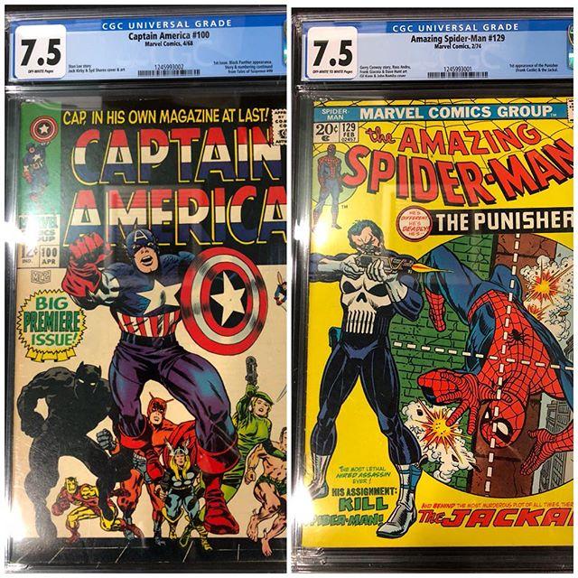 Newest #cgc arrivals!  For sale. Please DM for pricing. Captain America #100 CGC 7.5 & Amazing Spider-Man #129 CGC 7.5 #punisher #amazingspiderman #spiderman #captainamerica #igcomicfamily #igcomics