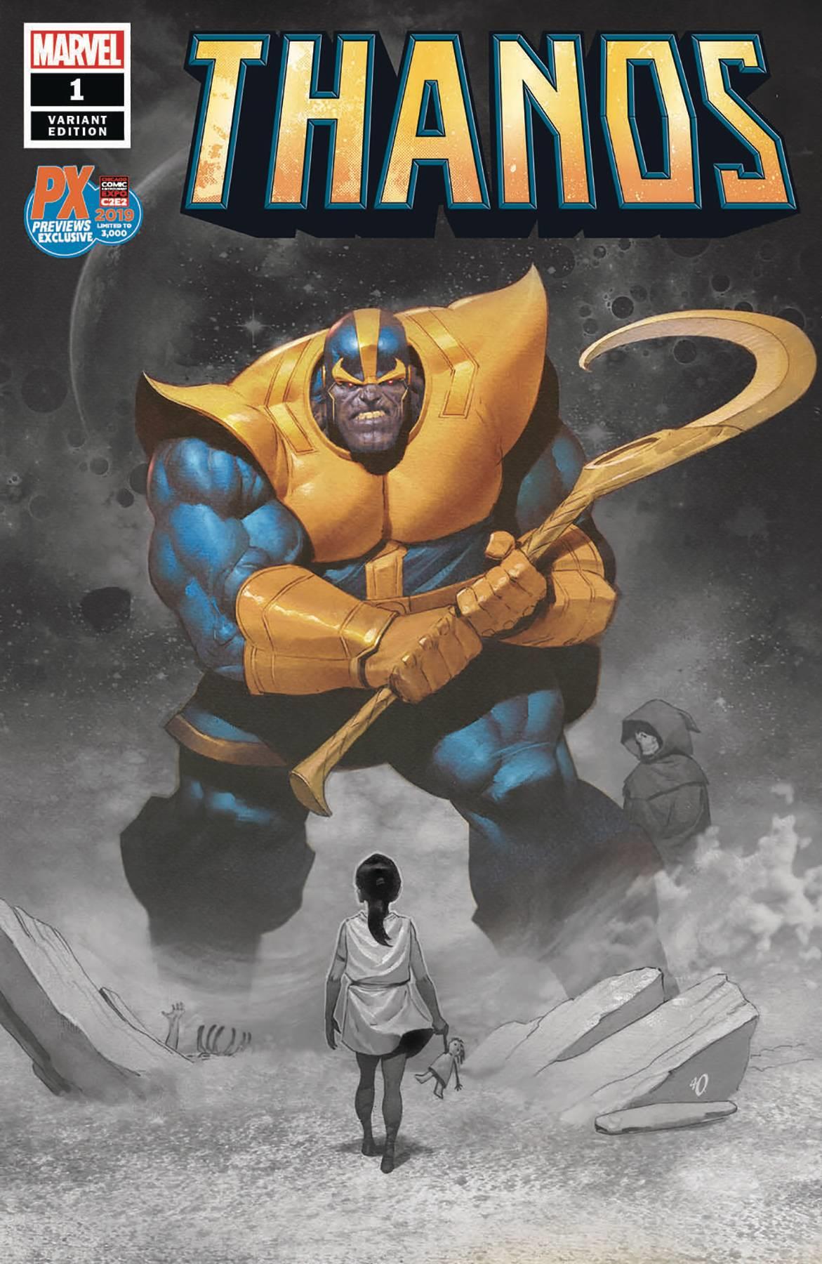 Thanos #5A Dekal Variant VF 2019 Stock Image