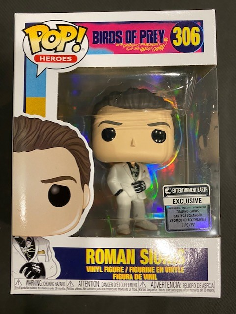 Funko Pop Birds Of Prey Roman Sionis Ee Exclusive Figure With Collectible Card