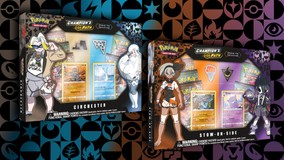 3 BOOSTER PACKS IN HAND POKEMON CHAMPIONS PATH PIN COLLECTION BALLONLEA GYM