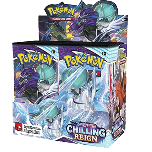This image has an empty alt attribute; its file name is pokemon-chilling-reign-booster-box.png